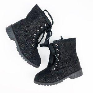 Cherokee Black Sparkle Glitter Boots size 7